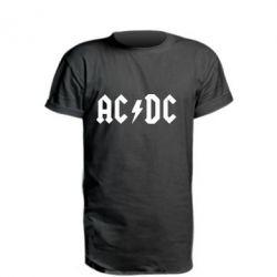 Удлиненная футболка AC DC - FatLine