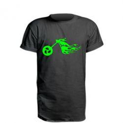 Подовжена футболка Аццкий байк