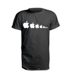 Купить Удлиненная футболка Apple Evolution, FatLine