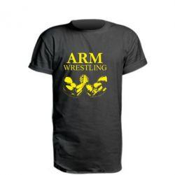 Удлиненная футболка Arm Wrestling