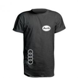 Удлиненная футболка Audi Logo