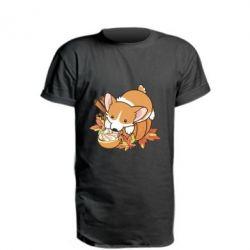 Подовжена футболка Autumn Corgi