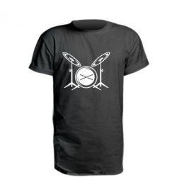 Удлиненная футболка Барабанная установка
