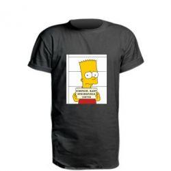 Удлиненная футболка Барт в тюряге - FatLine