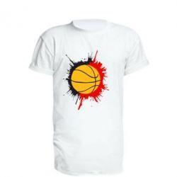 Удлиненная футболка Баскетбольный мяч - FatLine
