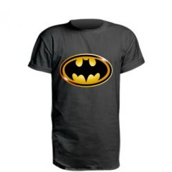 Подовжена футболка Batman logo Gold