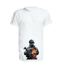 Удлиненная футболка Battlefield Warrior