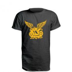 Удлиненная футболка Байк с крыльями