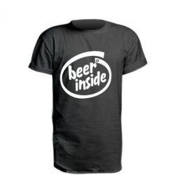 Удлиненная футболка Beer Inside