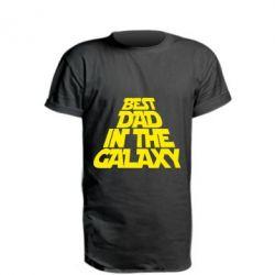 Удлиненная футболка Best dad in the galaxy