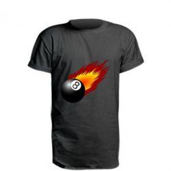 Удлиненная футболка Бильярдный шар в огне