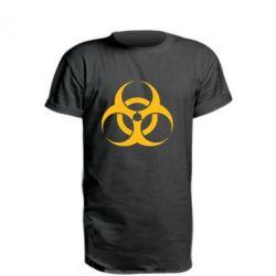 Удлиненная футболка biohazard