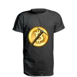Подовжена футболка Bitcoin Hammer