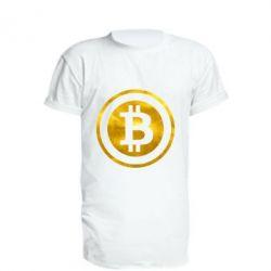Удлиненная футболка Bitcoin
