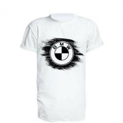 Удлиненная футболка БМВ арт, BMW art, FatLine  - купить со скидкой