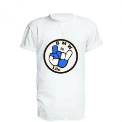 Удлиненная футболка BMW is Life - FatLine