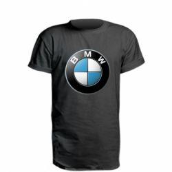 Удлиненная футболка BMW Logo 3D