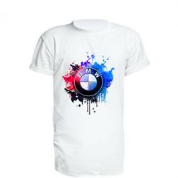 Удлиненная футболка BMW logo art 2 - FatLine