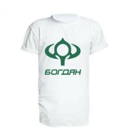 Удлиненная футболка Богдан - FatLine