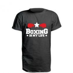Подовжена футболка Boxing is my life