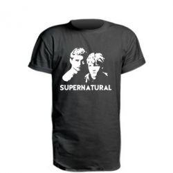 Удлиненная футболка Братья Винчестеры Сверхъестественное - FatLine