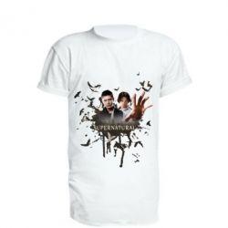 Удлиненная футболка Братья - FatLine