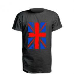 Удлиненная футболка Британский флаг