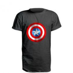 Удлиненная футболка Captain America 3D Shield