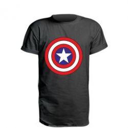 Удлиненная футболка Captain America