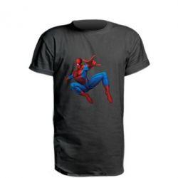 Удлиненная футболка Человек Паук - FatLine
