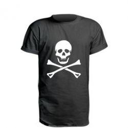 Подовжена футболка Череп та кістки