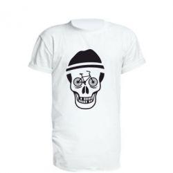 Удлиненная футболка Череп велосипедиста