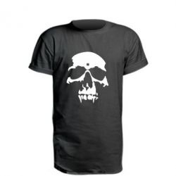Подовжена футболка Череп