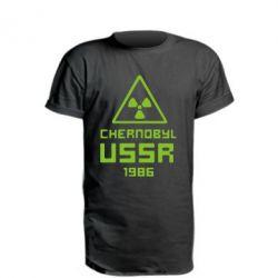 Удлиненная футболка Chernobyl USSR