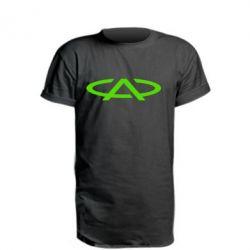 Автомобилистам, Удлиненная футболка Chery, FatLine  - купить со скидкой
