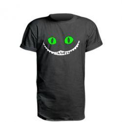 Удлиненная футболка чеширский кот - FatLine