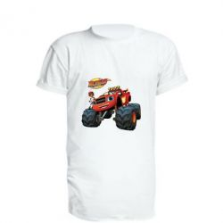 Купить Удлиненная футболка Чудо-машинки. Вспыш., FatLine