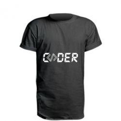 Подовжена футболка Coder