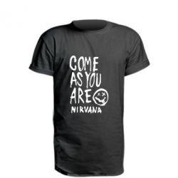 Удлиненная футболка Come as you are Nirvana - FatLine