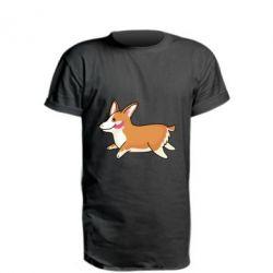 Удлиненная футболка Corgi