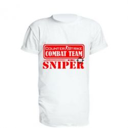 Удлиненная футболка Counter Strike Combat Team Sniper