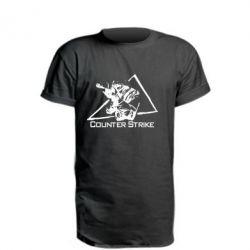 Удлиненная футболка Counter Strike Gamer