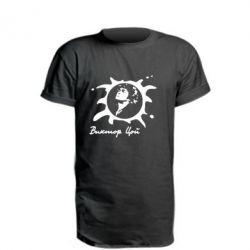 Удлиненная футболка Цой Виктор - FatLine