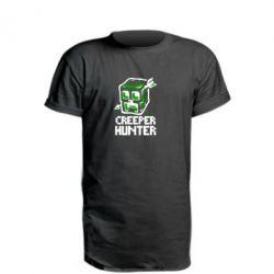 Удлиненная футболка Creeper Hunter
