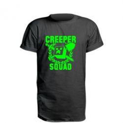 Подовжена футболка Creeper Squad