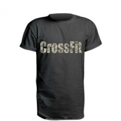 Удлиненная футболка CrossFit камуфляж
