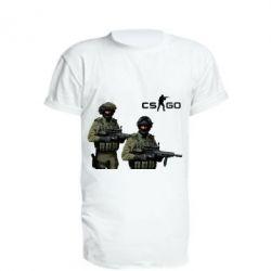 Удлиненная футболка CS GO - FatLine