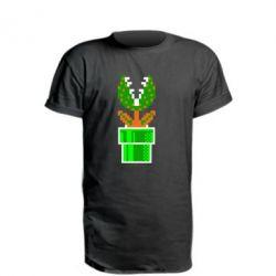 Подовжена футболка Квітка-людожер Супер Маріо
