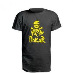 Удлиненная футболка DAKAR LOGO