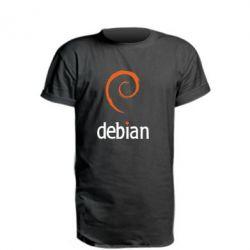 Удлиненная футболка Debian
